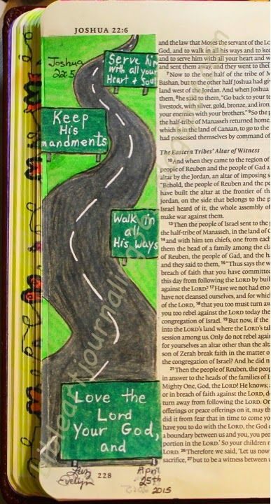 Easy Bible Art Journaling Journey: Joshua 22:5 (April 25th)