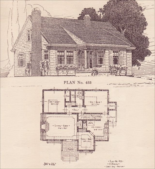 akers architect the telegram plan book portland or modernized colonial cottage no - Colonial Lake House Plans