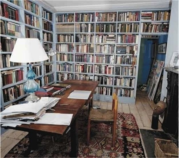 Colm Tóibín, writer. | 40 Inspiring Workspaces Of The Famously Creative