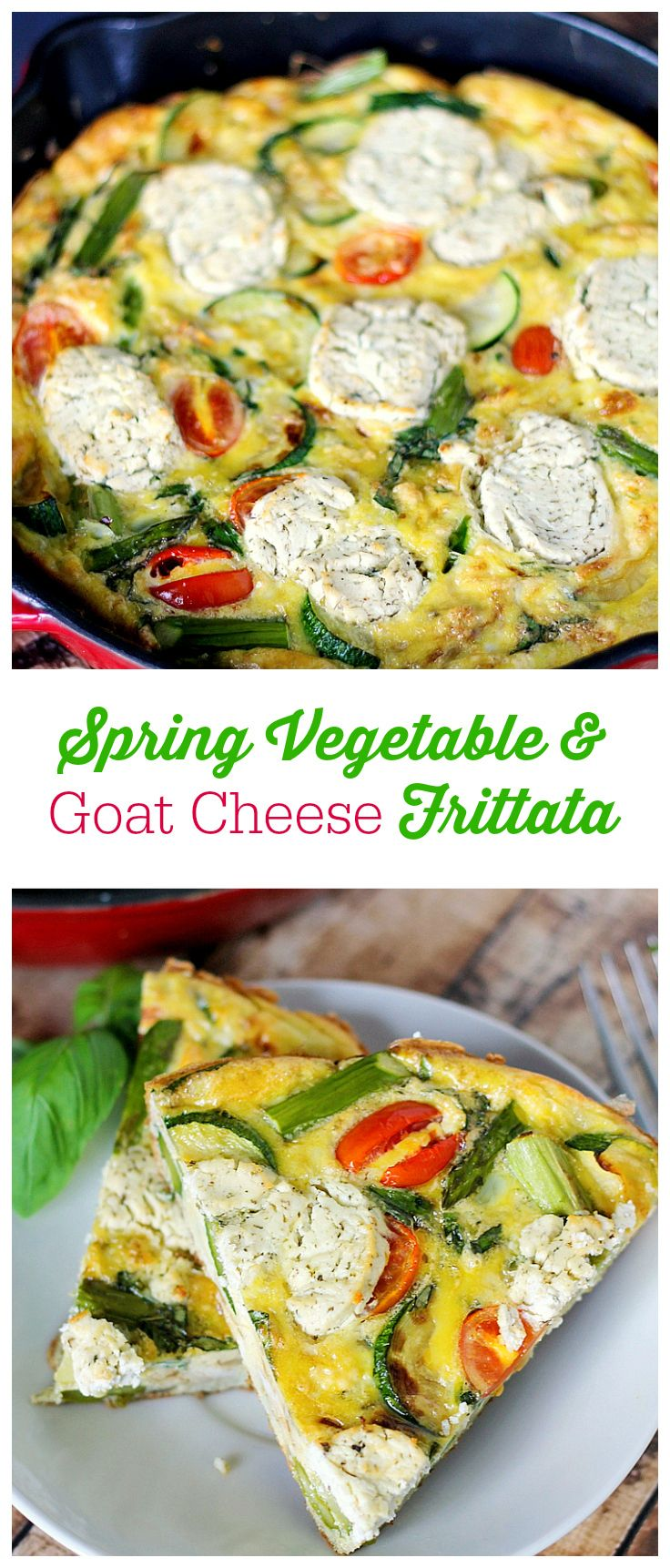 Spring Vegetable & Goat Cheese Frittata | Recipe | Goat Cheese, Goats ...