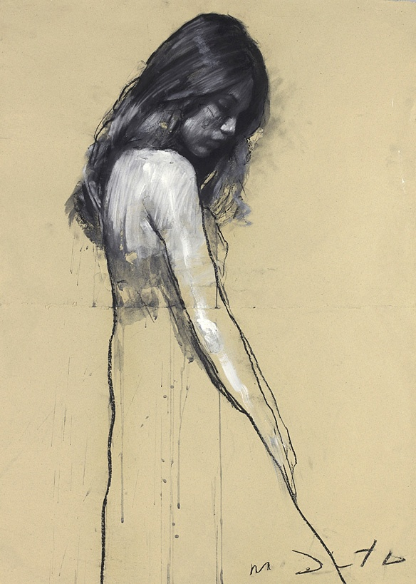 Sheri Standing Ⅱ/シェリー スタンディングⅡ/101×81cm/ミクストメディア、コラージュ、紙/2009年