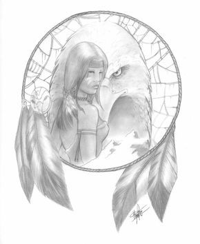Pencil Drawings Of Dream Catchers | The Dreamcatcher by clarkspark