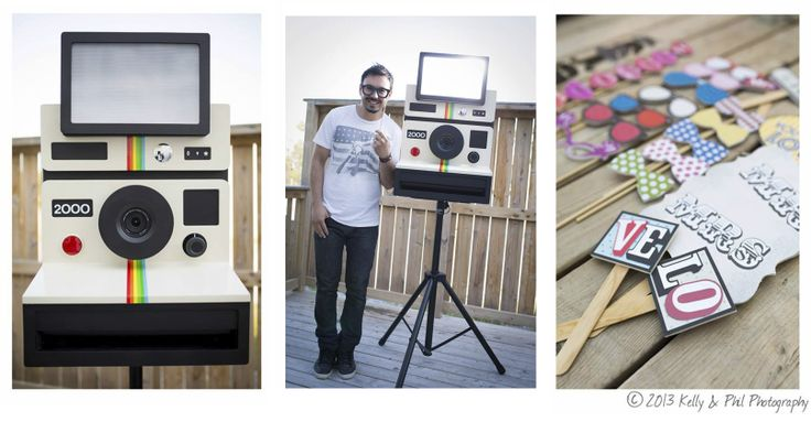 Polaroid, Inspired Photo Booth, camera, retro, vintage, kelly & Phil Photography