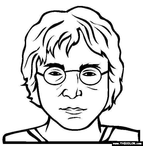 john lennon coloring page free john lennon online coloring