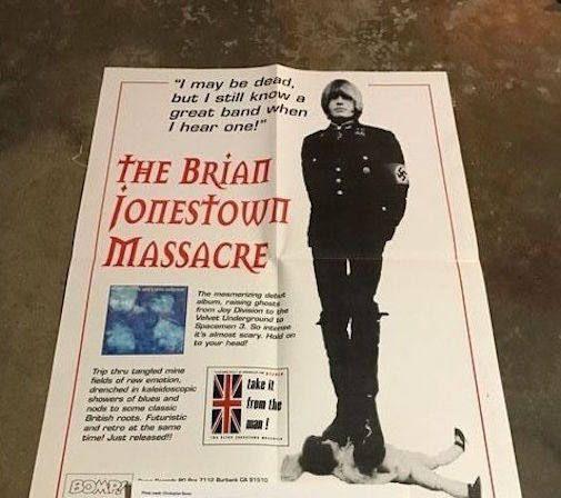 The Brian Jonestown Massacre - Rare Poster - BOMP! - Beck - Oasis - The Verve
