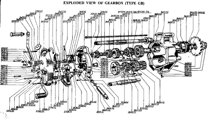 motorcycle engine and transmission diagram
