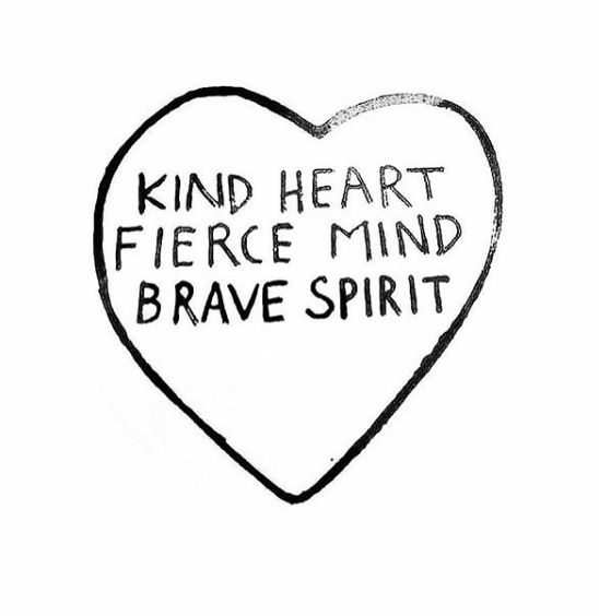 Kind heart, fierce mind, brave spirit. Quote @intentjewellery