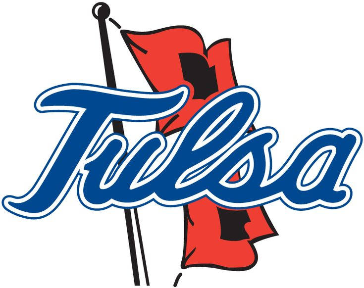 Tulsa Golden Hurricane Primary Logo (1982) - Tulsa scipt over Hurricane flags