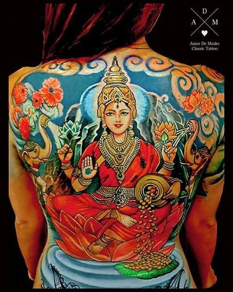 Best 25 hindu tattoos ideas on pinterest for Back mural tattoo designs
