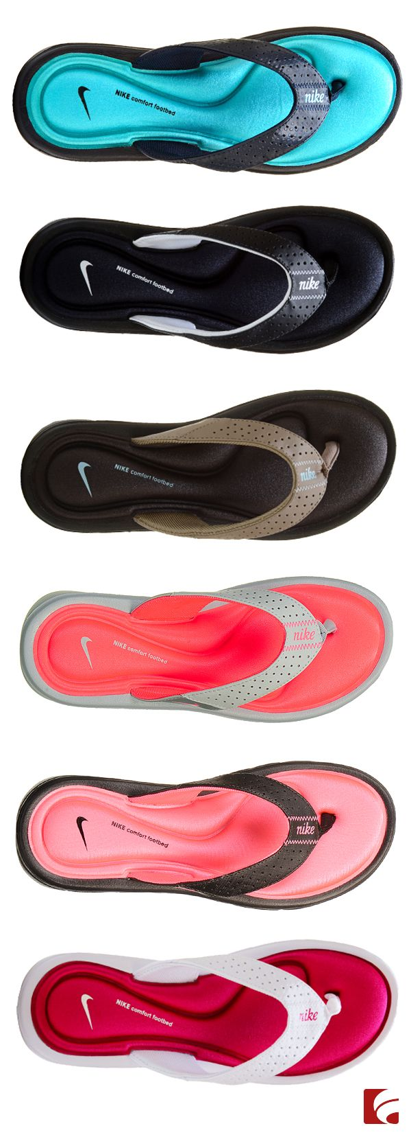 So many colors, so little time! With the Nike Comfort Thong sandal coming in so many colors, how's a girl to choose? Pick your favorite color or pick one for every day of the week...your options are limitless!