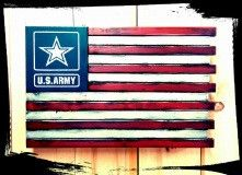US Army - Custom Wooden Flag (Hidden Compartment) - The Ole Bull Co.