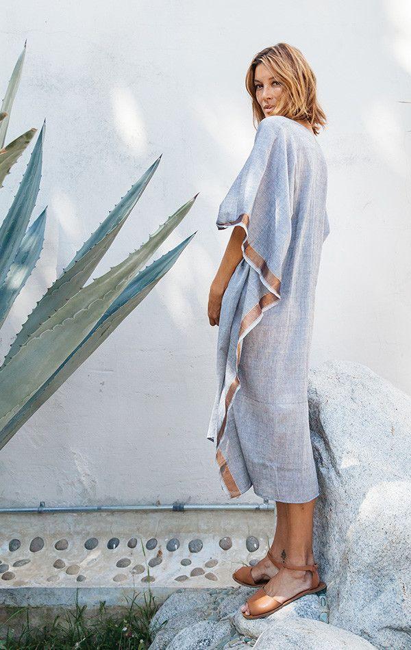Mode - Green fashion - Caftan - Plage - Sea - Sun - Fashion