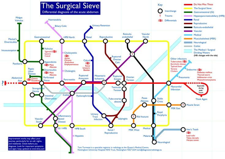 Surgical sieve in Tubemap style (Tom Turmezei in the BMJ)