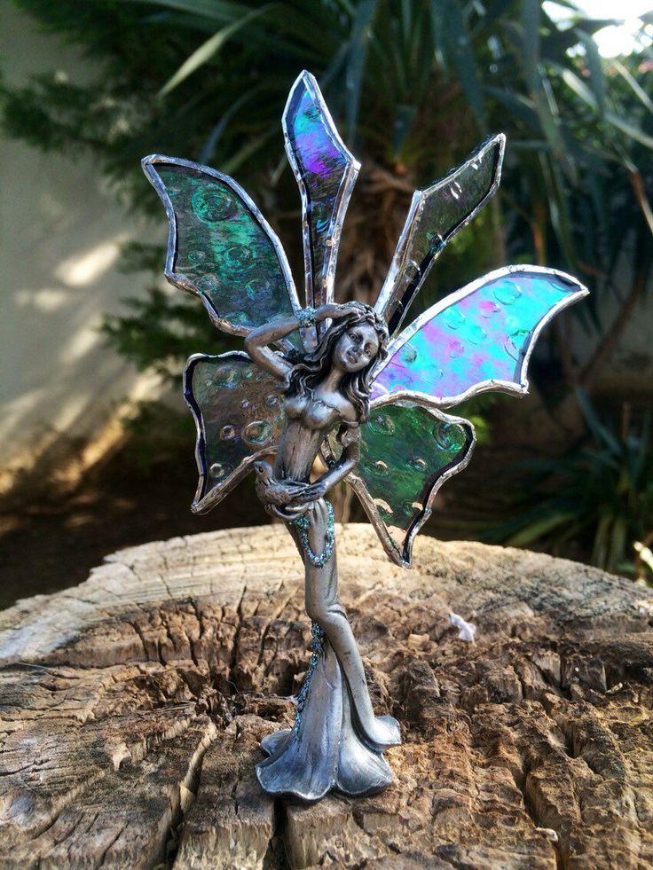 Een persoonlijke favoriet uit mijn Etsy shop https://www.etsy.com/listing/240102207/whimsical-fairytiffany-fairy-garden