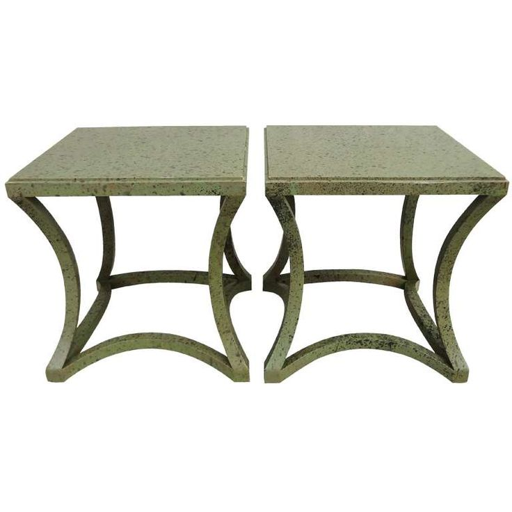 Exceptional Pair of Custom Albert Hadley Tables for Katherine Graham, 1970s 1