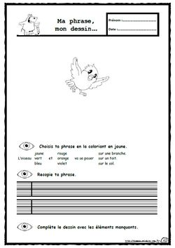 Lis et dessine, lecture, compréhension, écriture, Ce1, copie, autonomie, dixmois