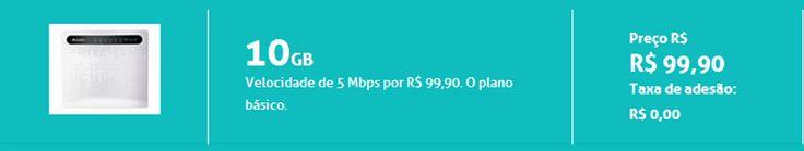 Internet 4G - 5Mbps - 10GB- R$ 99,90 - Sem Taxa de Adesão