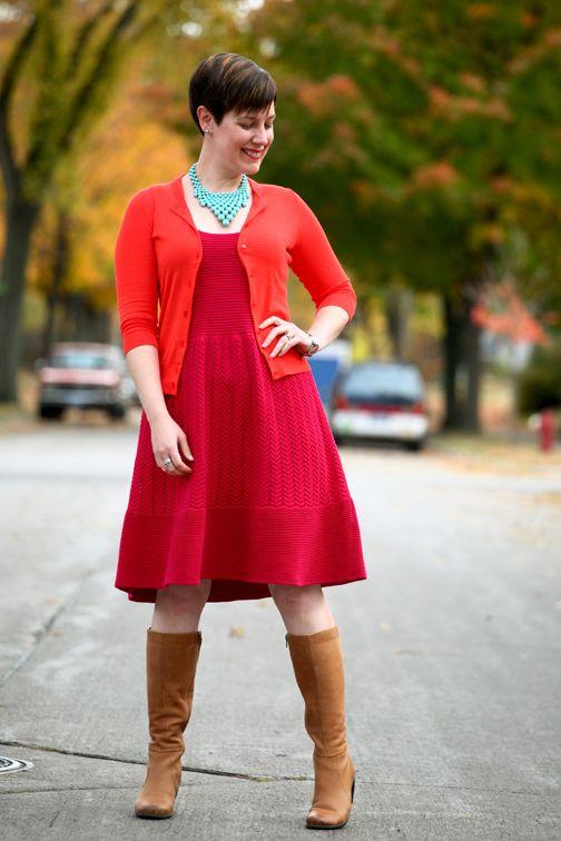 Already Pretty Outfit Featuring Orange Cardigan Magenta