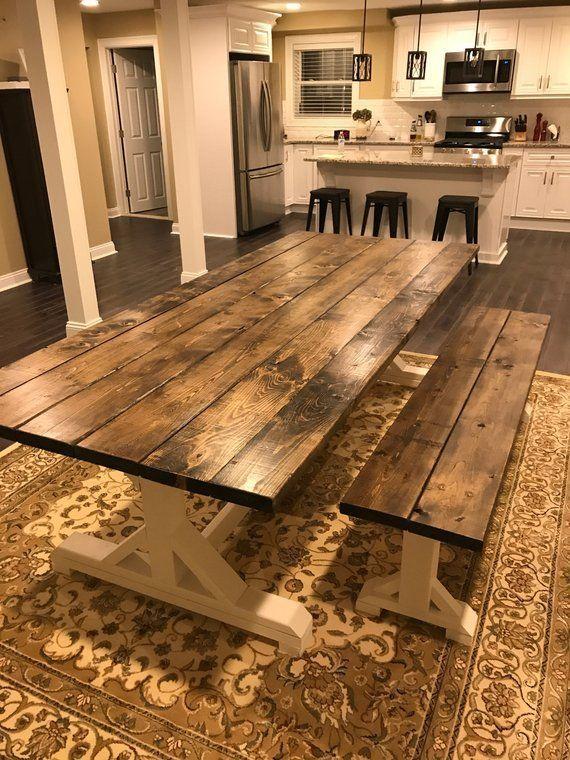 Farmhouse Table Farm Table Long Farmhouse Table Rustic Table