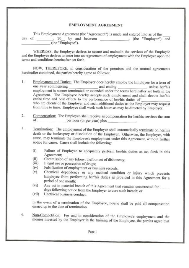 what is a contract of employment pdf