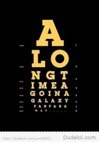 epic eye exam. along time ago in a galaxy ... star wars