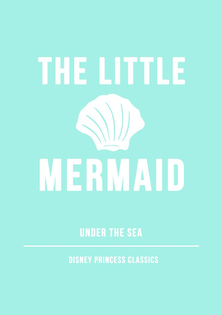 The Little Mermaid Minimalist Poster by sinandher.deviantart.com on @DeviantArt