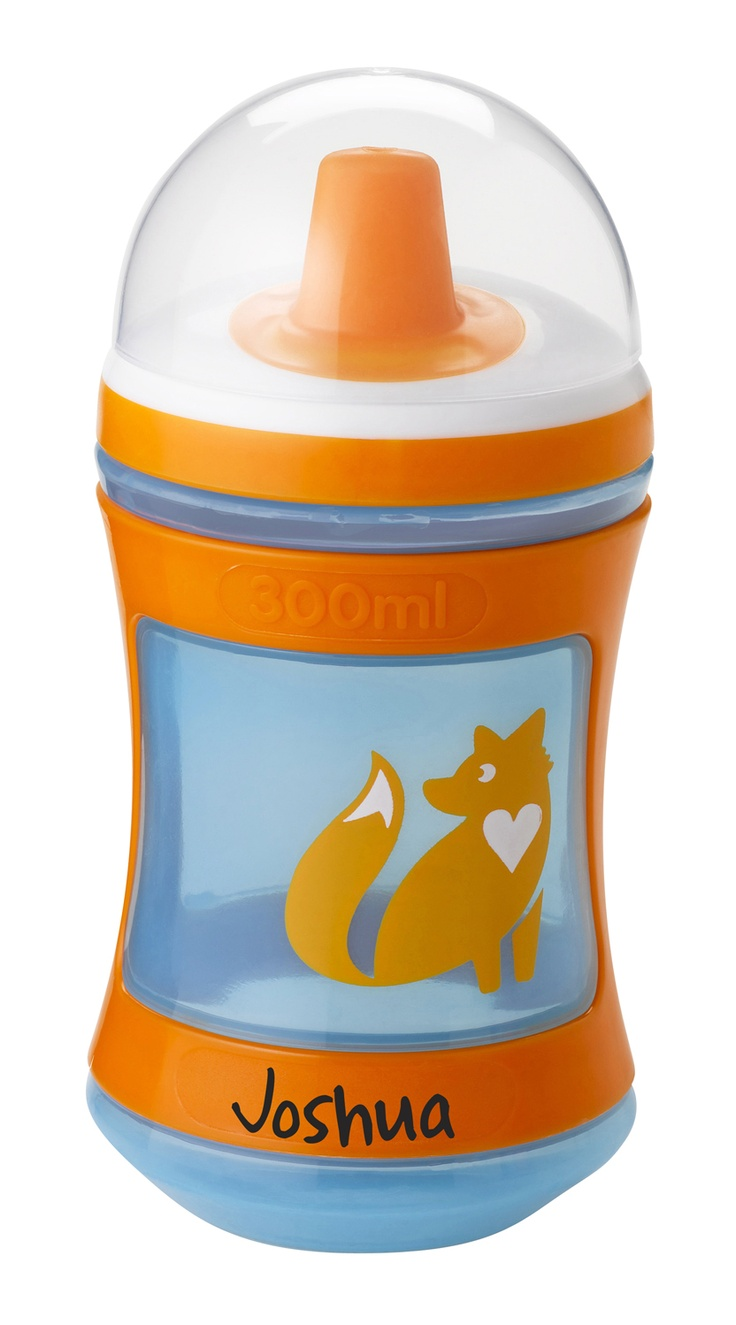 Tommee Tippee® discovera® Trainer Beaker 9m+ #sippycup #tommeetippeeau #discovera #cutecup #joshua #blue #babyshower #giftregistry #orange #fox