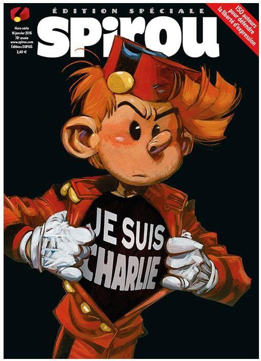 Spirou Magazine : 150 auteurs rendent hommage à #JeSuisCharlie http://bit.ly/1wPc8Ss