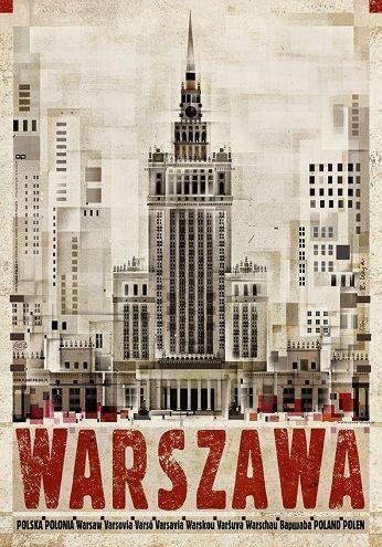 Warszawa, pałac kulturyZobacz też inne plakaty z serii PLAKAT-POLSKA Oryginalny polski plakatautor plakatu: Ryszard Kaja  data druku: 2016 wymiary plakatu: B1, 68x98cm