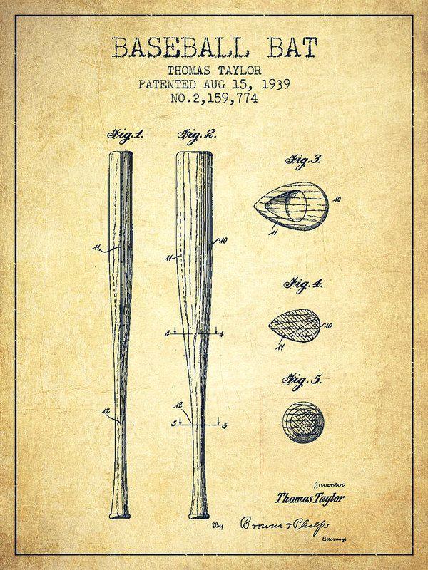 Vintage baseball bats