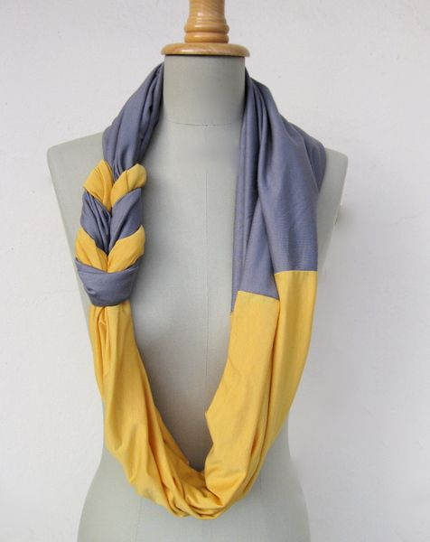 DIY braided scarf. This is quite nice! Sweet colors!