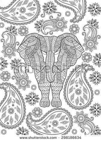 43 best images about Adult Coloring Pages ELEPHANTASY on