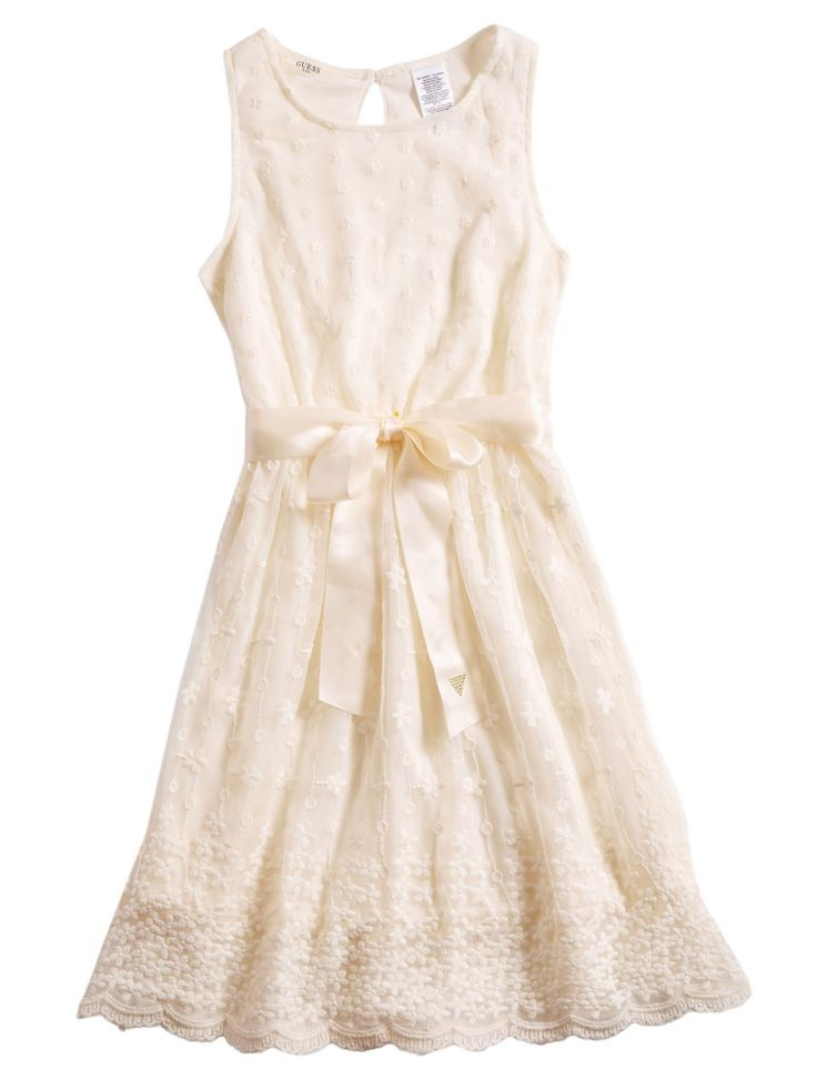 Amazon.com: GUESS Kids Big Girl Embroidered Lace Dress (7-16): Clothing