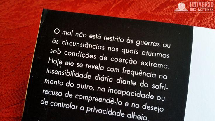 UNIVERSO DOS LEITORES: Cegueira Moral, de Zygmunt Bauman e Leonidas Donskis