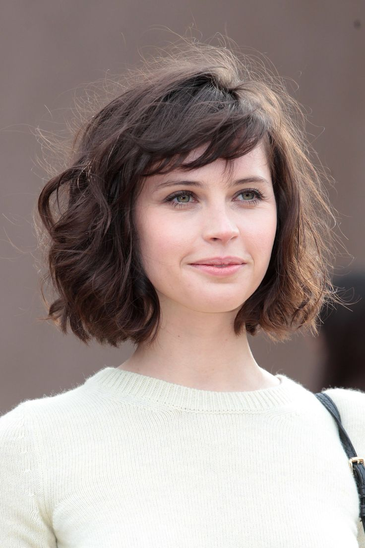 "Love her hair..wish i could pull it off ""Felicity Jones at Burberry Prorsum"""