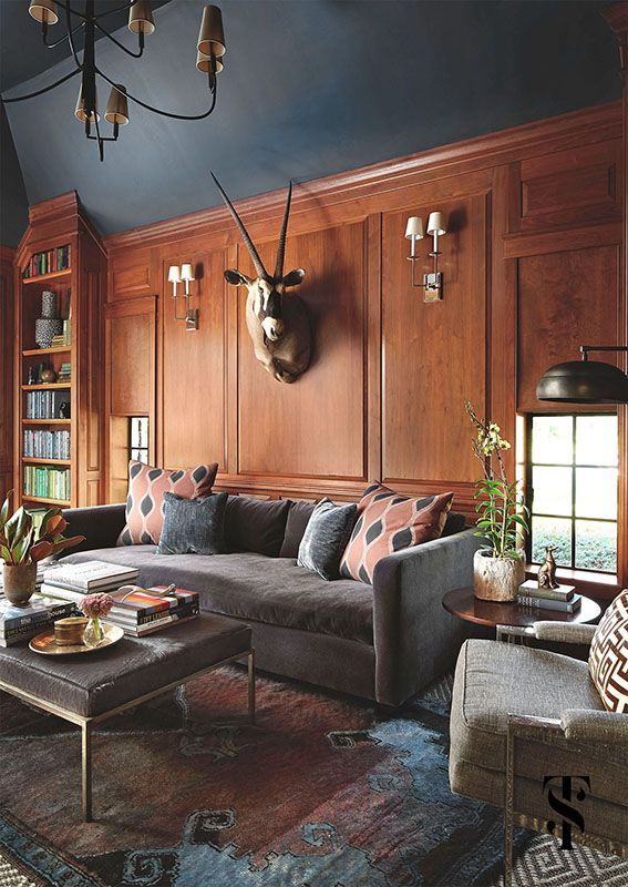 Interior design, remodel, and expansion of a classic french tudor style  home on country