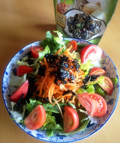 2013.5.12. Salad with Kankoku-Nori(usagi Cafe)