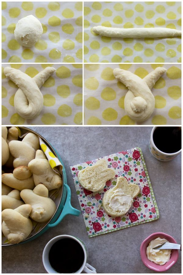 Fill your Easter bread basket with these adorable, bunny-shaped rolls.