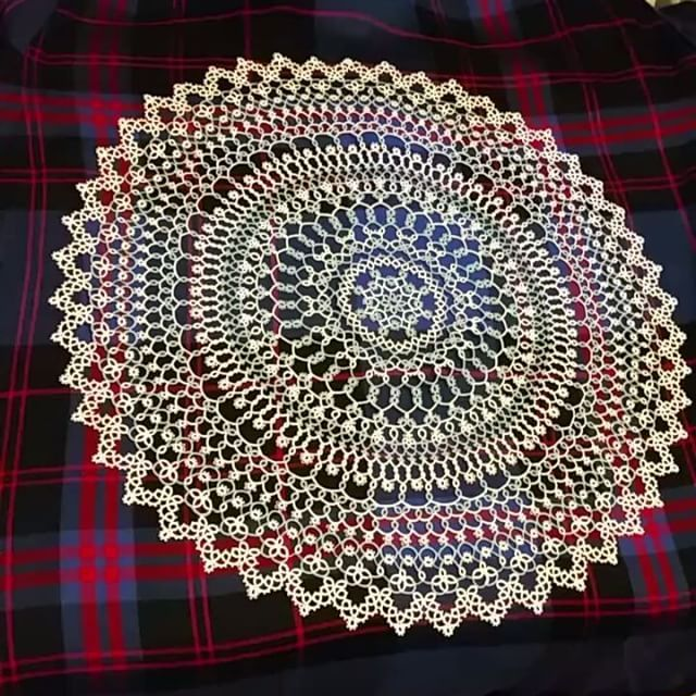Finished Renulek's 2016 tatted lace doily  doily and compared to last year's…