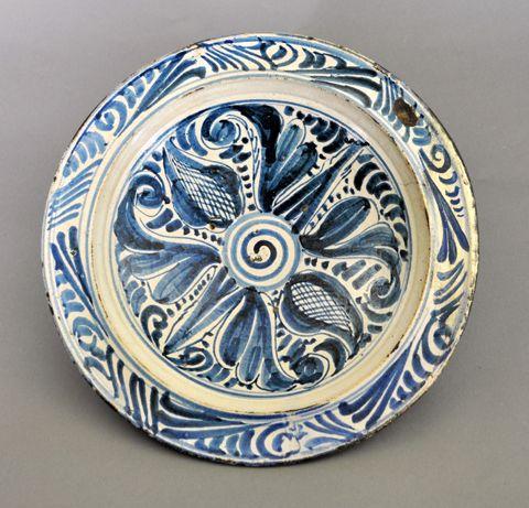 Plate/ Plato Mid 16th Century, Toledo, Spain