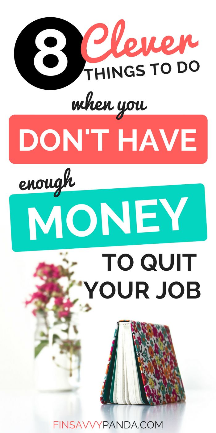 Hate your job but can't quit? Don't have enough money to quit your job? Honey, I feel you! Here's 8 clever things you need to do to improve your situation! Believe it or not, switching jobs isn't my advice. Read more at finsavvypanda.com  how to quit your job tips | money saving tips | personal finance tips | financial freedom tips | when to quit your job tips | self development quotes | self development ideas | when to quit your job | hate my job tips | hate my job what to do