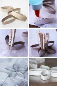 christmas tree ornaments toilet paper rolls flowers tutorial