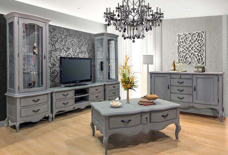 Setul de mobilă pentru living Odette – o singură nuanță de gri este suficientă.