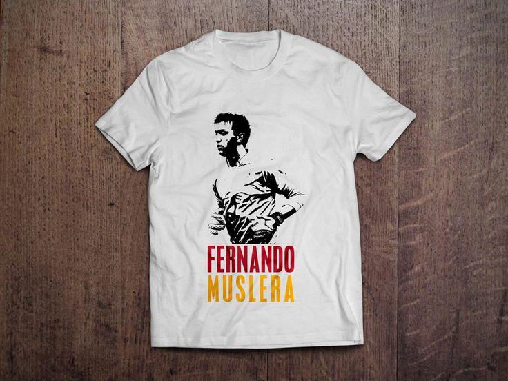 Beyaz üzerine dijital baskı Fernando Muslera T-Shirtleri 29,99TL