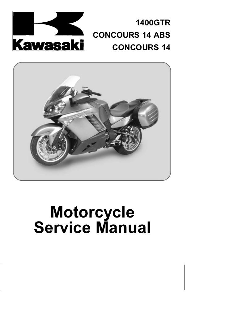 1400GTR       CONCOURS 14 ABS          CONCOURS 14  MotorcycleService Manual