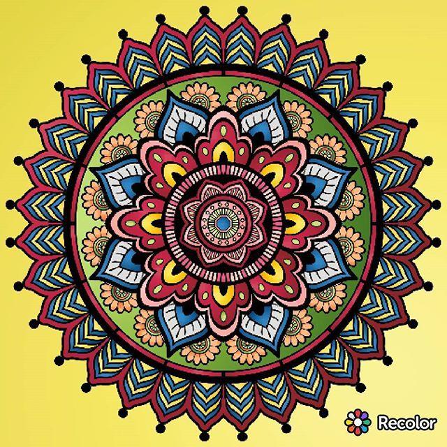 🎨😊💝  #beautiful #wonderful #coloring #pecolor #mandalas #mandala #мандала #раскраски