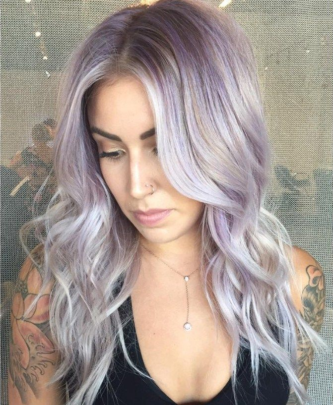 Gray purple hair