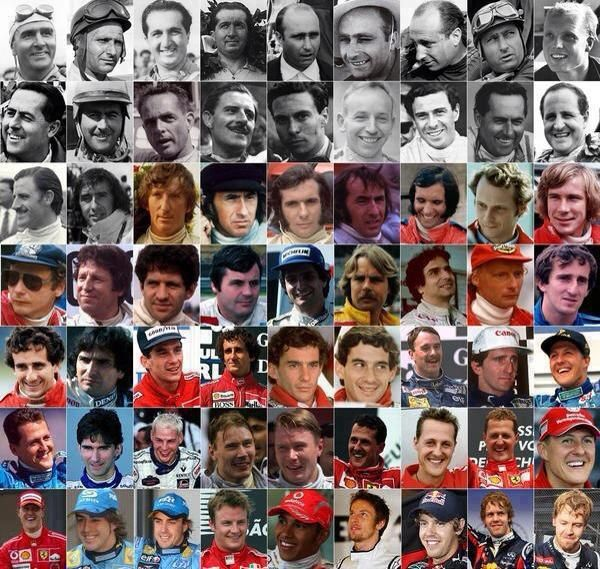 Twitter / Formula1_GP: Every F1 World Champion from 1950 to 2012. (Via F1 Race Forums)