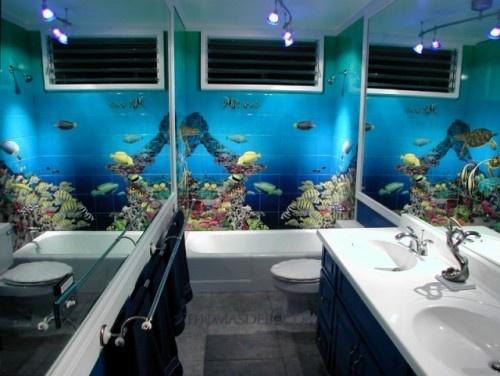 Beautiful Underwater Bathroom Design on bathroom under the sea, bathroom art underwater, bedroom underwater, living room underwater,