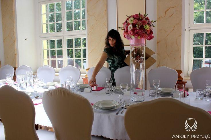 7. Pink Wedding,Centerpieces,Wedding Planner / Różowe wesele,Dekoracja stołu,Konsultant ślubny,Anioły Przyjęć